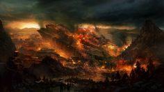 paintings illustrations fantasy art digital art airbrushed apocalyptic 1500x844 wallpaper Art HD Wallpaper