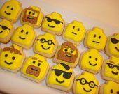 Lego head Sugar Cookies - so cool