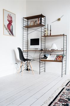 String Shelves for the Home Office | Design Apartments Weimar
