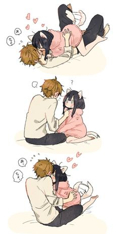 anime, kawaii, and couple image Anime Love, Manga Love, Anime Comics, Kawaii Anime, Anime Neko, Manga Anime, Tamako Love Story, Image Manga, Manga Couple