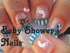 Baby shower Nails - Uñas para baby shower