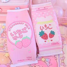 Kawaii Strawberry Milk Stationery Bag cm ●Material:PU ●About Shipping: time: business days. Pink Aesthetic, Aesthetic Anime, Aesthetic Korea, Kawaii Bedroom, Kawaii Accessories, Strawberry Milk, Cute Room Decor, Kawaii Wallpaper, Soft Grunge