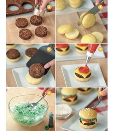 these are the BEST Cupcake Ideas!- Easy Cheeseburger Cupcakes…these are the BEST Cupcake Ideas! Easy Cheeseburger Cupcakes…these are the BEST Cupcake Ideas! Fun Cupcakes, Cupcake Cakes, Cupcake Cupcake, Summer Cupcakes, Birthday Cupcakes, Cup Cakes, Cupcake Ideas Birthday, Cute Cupcake Ideas, Brownie Cupcakes