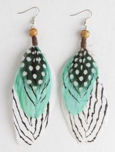 #Mint #Feather #Earrings <3