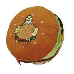 Simpsons coussin Hamburger ref 008
