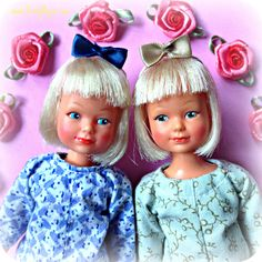Jennie dolls by Denys Fisher.  They were made in 1976 and originally came dressed in a school uniform.
