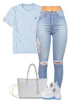"""""""Untitled #1589"""" by lulu-foreva ❤ liked on Polyvore featuring Ralph Lauren, MICHAEL Michael Kors and H&M"""