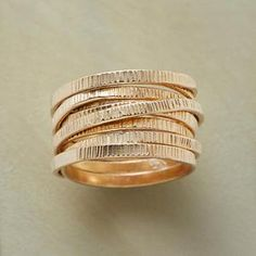gold bands ring