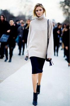 19 Beautiful Sweater And Skirt Combinations For Fall | Styleoholic
