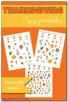 Thanksgiving I Spy {free printables} - Gift of Curiosity Free Thanksgiving Printables, Thanksgiving Activities For Kids, Thanksgiving Prayer, Free Printables, Kindergarten Thanksgiving, Thanksgiving Appetizers, Thanksgiving Outfit, Thanksgiving Decorations, Thanksgiving Recipes