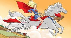 Supergirl on Comet with Streaky and Krypto