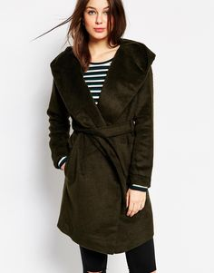 Glamorous Brushed Hooded Coat