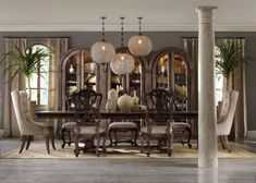 Rhapsody Brown Rectangular Dining Room Set