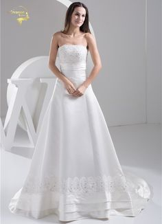 Now  at our store Womens Applique Lace Wedding Dresses Satin Bridal Gowns come see at A Sheek Boutique.