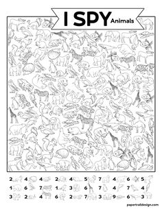 Teaching İdeas 604186106249319173 - Free Printable I Spy Animal Activity {Boredom Buster} – Paper Trail Design Source by olivia_hof Rainy Day Activities, Animal Activities, Classroom Activities, Toddler Activities, Learning Activities, Preschool Activities, Reptiles Preschool, Cool Coloring Pages, Paper Trail