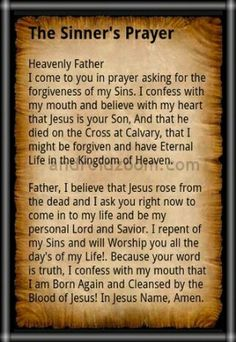 Is the sinner's prayer biblical? It is biblical for a sinner to pray to Jesus to forgive him of his sins. Sinners Prayer, Jesus Prayer, Prayer Scriptures, Bible Prayers, Prayer Quotes, Bible Verses, Catholic Prayers Daily, Gospel Quotes, Healing Scriptures