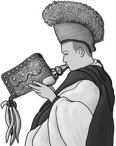 [ dung dkar (horagai) ] brass instrument