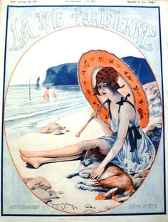 La Vie Parisienne, 1921 French Art Deco Bathing Beauty risque magazines   from batnicks