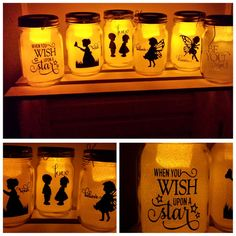 These adorable pint sized jars are beautiful during the day, but they turn magical when it gets dark! Each jar is glittered on the inside, so there is no sparkl