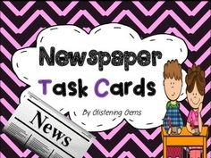 This Task Card pack is designed to be used with Newspapers. It is a great activity for literacy centers, contract work or Daily 5! Students select an article to read and then choose task cards to complete. They can do it independently, in small groups or pairs.