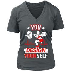 Bodybuilding - Lifting 'Design Yourself' District Women's V-Neck Design Your Shirt, Your Design, Cave, Bodybuilding, Woman, Tees, T Shirt, Fashion, Supreme T Shirt