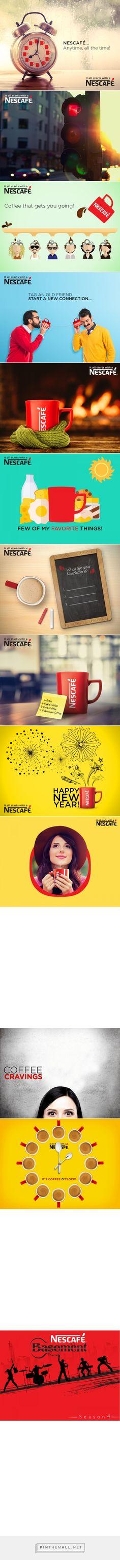 Nescafé Pakistan - Digital on Behance - created via https://pinthemall.net