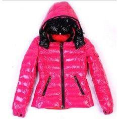 Moncler Women Jackets Shiny Pink