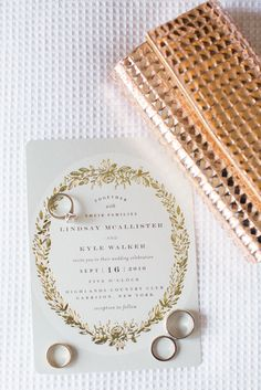 Featured on - look at this beauty! Thank you for this beautiful feature Foil-pressed Wedding Invitations by Phrosne Ras Timeless Wedding, Chic Wedding, Floral Wedding, Rustic Wedding, Pastel Wedding Invitations, Moon Wedding, Wedding Clutch, Wedding Welcome, Real Weddings