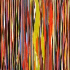 Camilo Sanín, Initial Confluence, 2011, acrylic on canvas, 40 x 40 inches