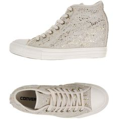 Converse All Star High-tops & Trainers (3,130 HNL) ❤ liked on Polyvore featuring shoes, sneakers, ivory, hi tops, wedge sneakers, ivory shoes, high top trainers and converse shoes
