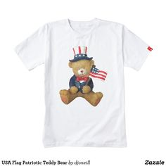 USA Flag Patriotic Teddy Bear Zazzle HEART T-Shirt. It's good to follow your HEART. Zazzle has partnered with LIFE Line in support of their mission to empower Kenyan mothers of special needs children, to be self-sustaining. Each product is handmade in Kenya and product sales directly benefit the Malaika Mums, many of whom have been shunned by society because of their special needs children.