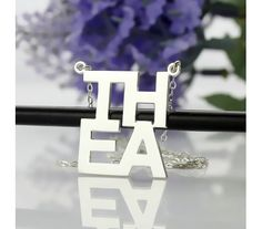 Lindsay Style Name Necklace in Sterling Silver BK19
