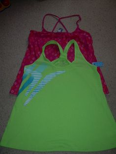Lot 2 OLD NAVY Cami Tank Tops Braided Straps M 8 10 NWT NEW FREE SHIP #14