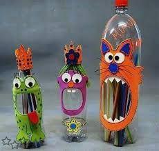 Resultado de imagen para manualidades con botellas