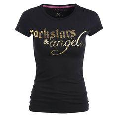 Rockstars & Angels Logo / Round-Neck T-Shirt
