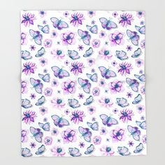 Buy Purple Butterflies Flying Throw Blanket by augustinet. Worldwide shipping available at Society6.com. Just one of millions of high quality products available. Butterflies Flying, Purple Butterfly, Gifts For Him, Print Design, Best Gifts, Tapestry, Blanket, Pillows, Prints