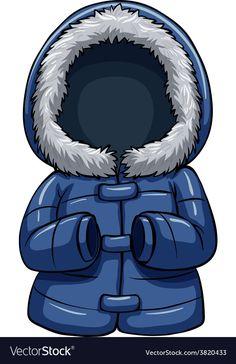 A coat vector image on VectorStock Clipart, Crochet Towel, Object Photography, Blue Bodies, School Decorations, Mom Day, Bear Art, Christmas Illustration, Kindergarten Activities