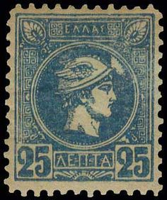 Auction House specialized in stamps, coins, banknotes, rare maps and books of Greece and many other foreign countries. Great Britain, Athens, Vintage World Maps, Stamps, Auction, Blue, Seals, Postage Stamps