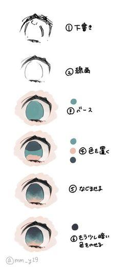 Amazing Learn To Draw Eyes Ideas. Astounding Learn To Draw Eyes Ideas. Manga Drawing Tutorials, Drawing Techniques, Drawing Tips, Drawing Skills, Digital Painting Tutorials, Digital Art Tutorial, Art Tutorials, Doodle Drawing, Anime Drawings Sketches