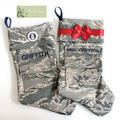 MILITARY CHRISTMAS STOCKINGS (The D.O.D. and Me) www.operationwearehere.com/deploymentproducts.html