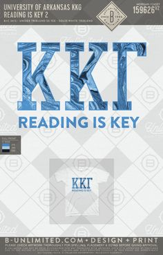 Reading is key University of Arkansas- KKG #BUonYOU #greek #greektshirts #greekshirts #sorority #KappaKappaGamma #KKG #Kappa #PRshirts #philanthropy #springbreak