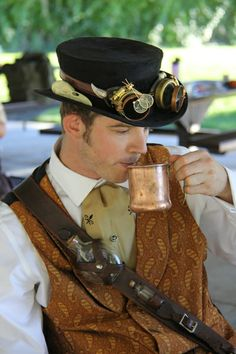 Albuquerque Steampunk Society Tea in the Park and Tiffin practice