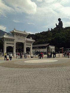 @ ngong ping village - hong kong: giant buddha