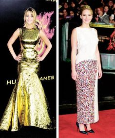 Jennifer Lawrence The Hunger Games Premier 2012 and the Catching Fire premier 2013