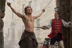 Oof. Here's his first shirtless shot, and regrettably it's while he's | The 32 Sexiest Pictures of Jamie on Outlander | POPSUGAR Entertainment