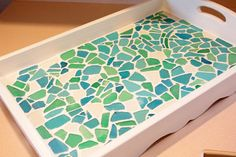 DIY tray with Pier 1 sea glass