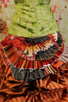 Tattered Bustle Ruffle in Multi Colors by Damsel in this Dress