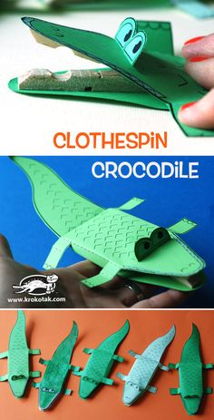 Clothespin Crocodile