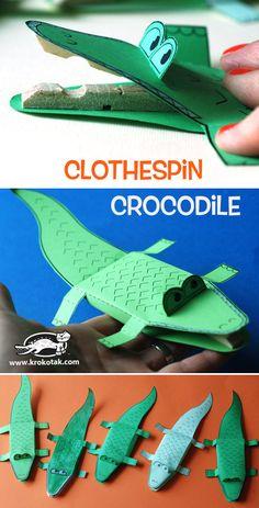 Clothespin Crocodile