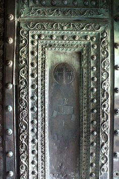 """Door from Constantinople's Church of Divine Wisdom """"Hagia Sophia"""". It used to be the central and largest cathedral of Christendom. Then Muslim Turks invaded, ripped out all Christian symbolism and tried to pass it off as a mosque. Today it's a Turkish """"Museum"""", which is an excuse to continue preventing its functioning as a church."""